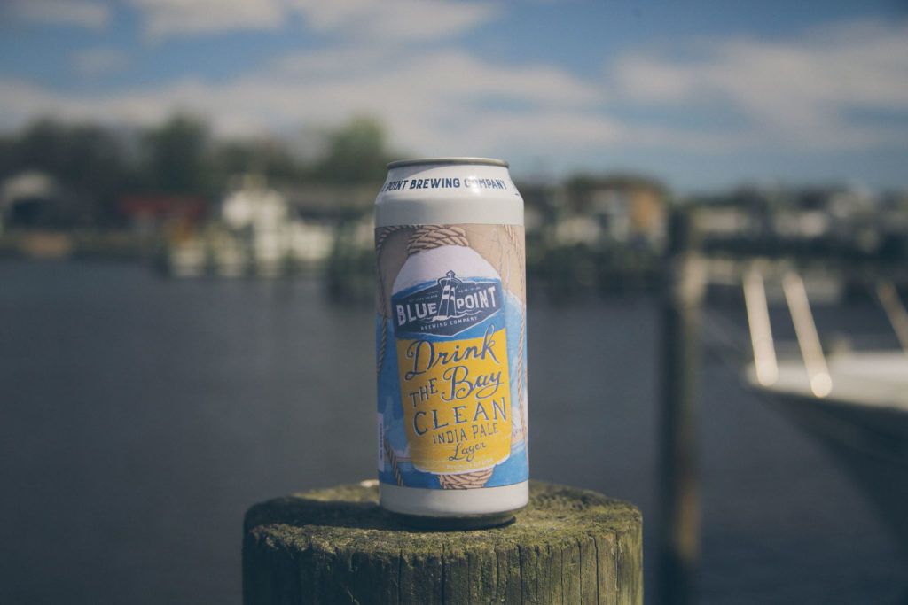 Drink The Bay Clean Beer - Blue Point Brewing Marketing Image