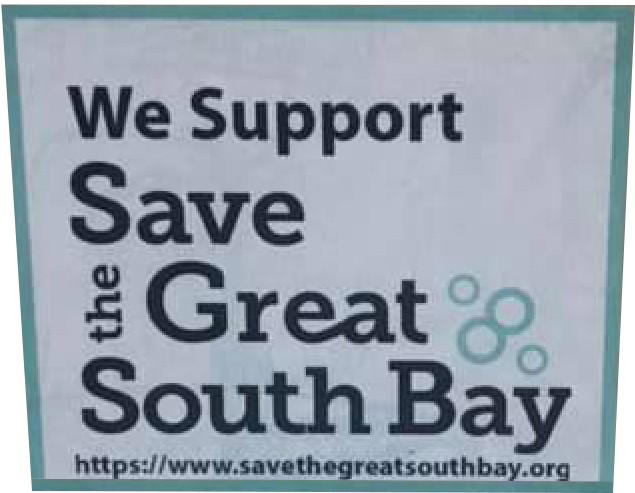 Save The Great South bay Sticker Program