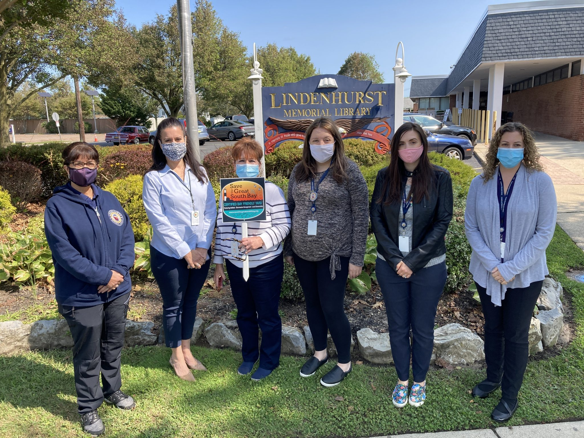 Lindy Becomes LI's First Bay Friendly Certified Library